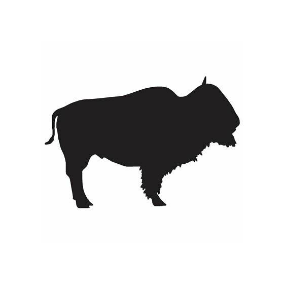 Bison Decal Sticker V23