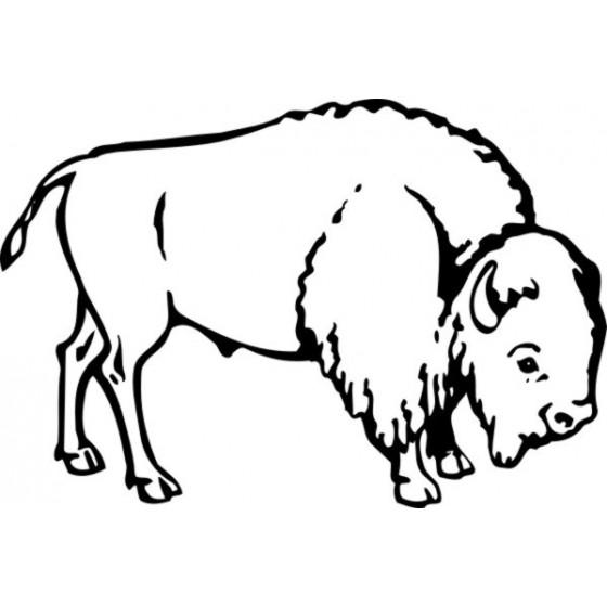 Bison Decal Sticker V28