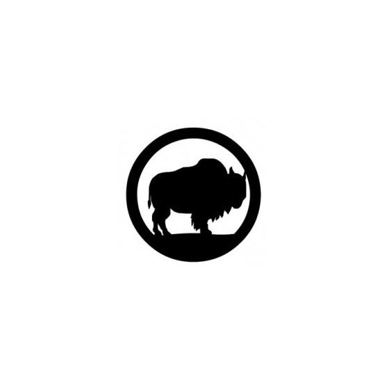 Bison Decal Sticker V29