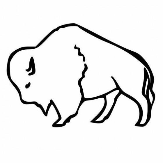 Bison Decal Sticker V31