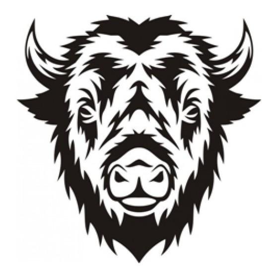 Bison Decal Sticker V33