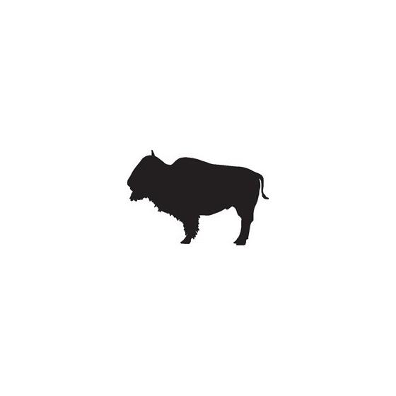 Bison Decal Sticker V35