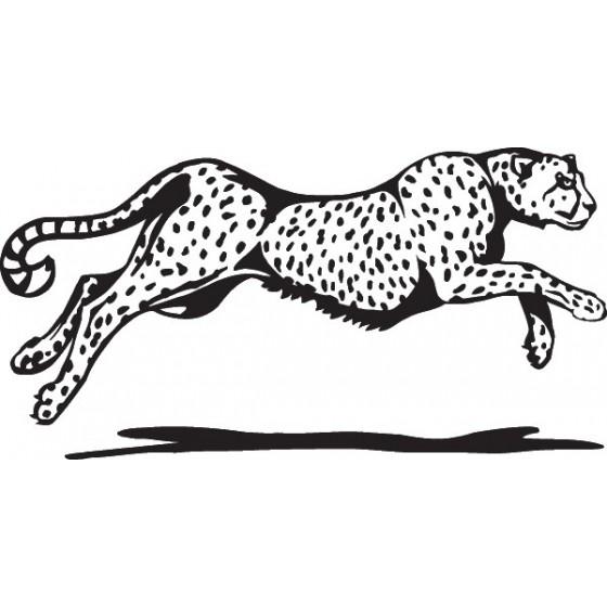 Cheetah Vinyl Decal Sticker V5