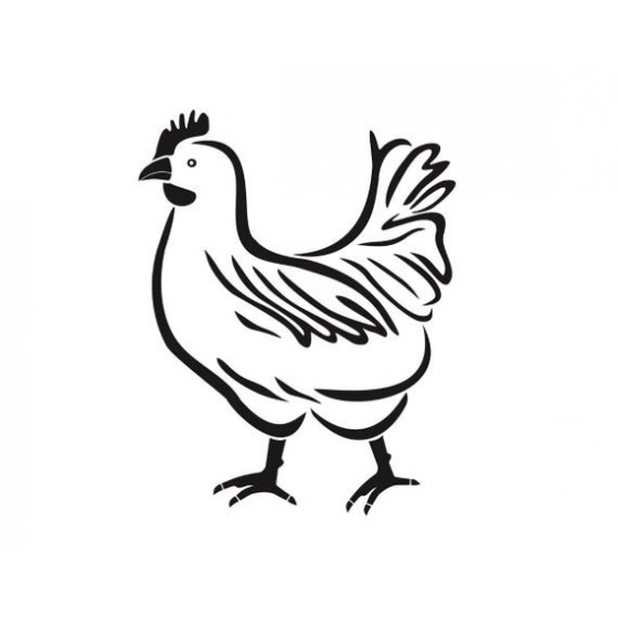 Chicken Vinyl Decal Sticker...