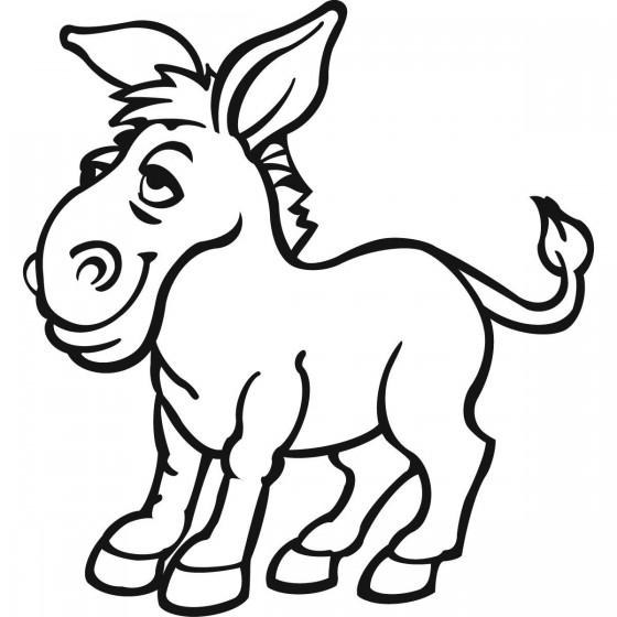 Donkey Vinyl Decal Sticker...