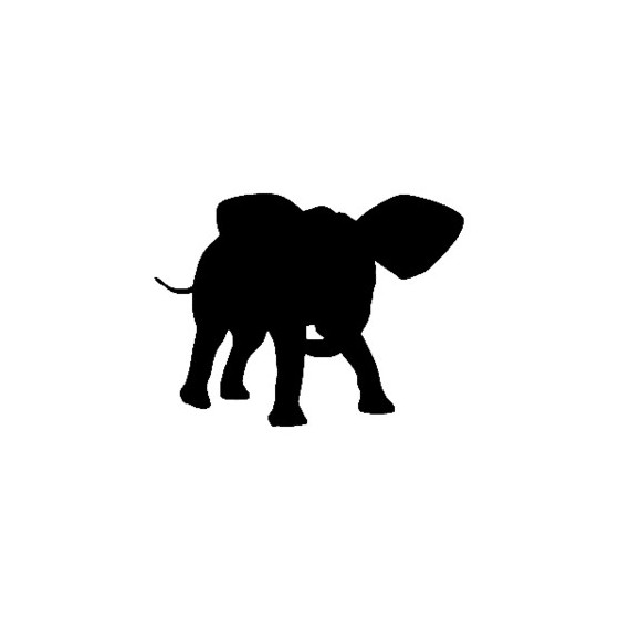 Elephant Vinyl Decal...