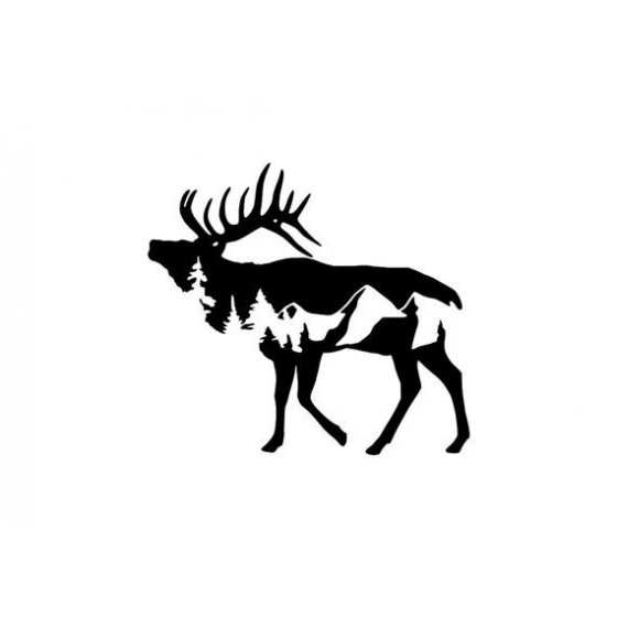 Elk Vinyl Decal Sticker V25