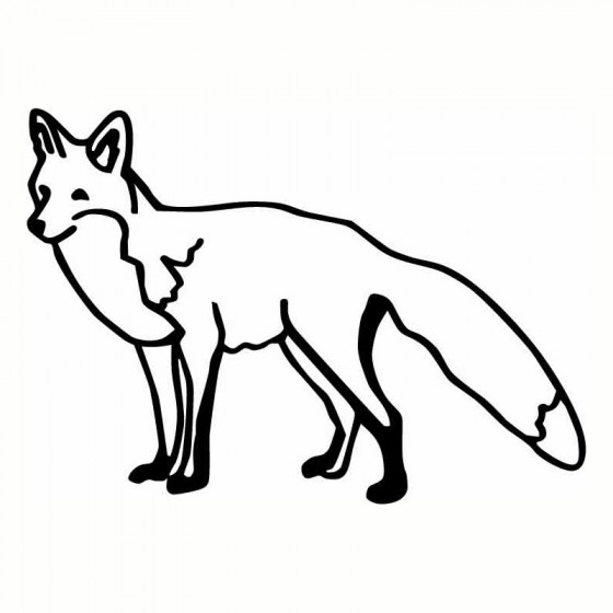 Fox Vinyl Decal Sticker V44