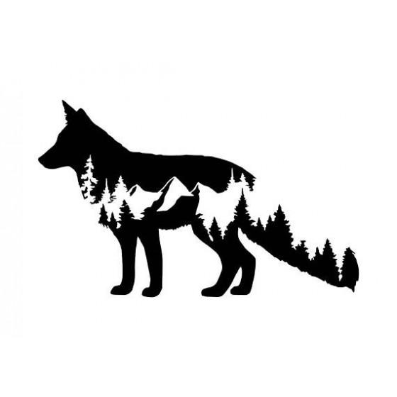 Fox Vinyl Decal Sticker V8