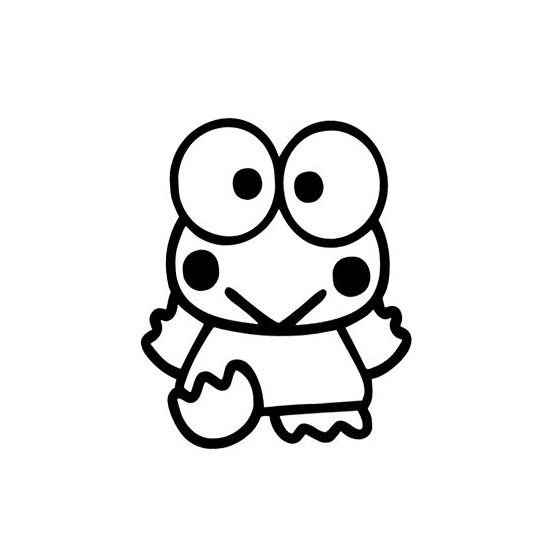 Frog Vinyl Decal Sticker V101