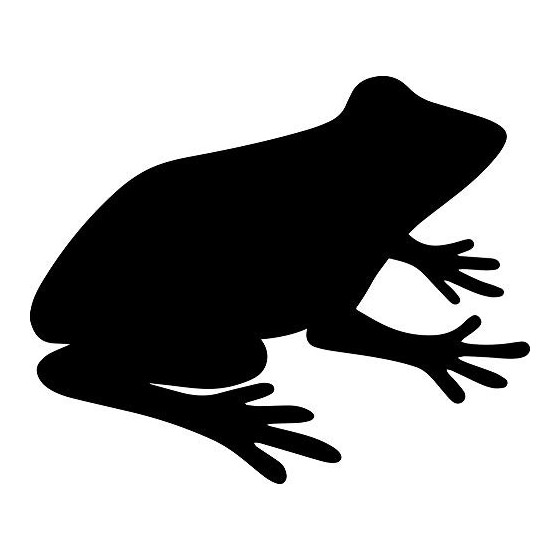 Frog Vinyl Decal Sticker V118