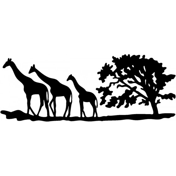Giraffe Vinyl Decal Sticker V3