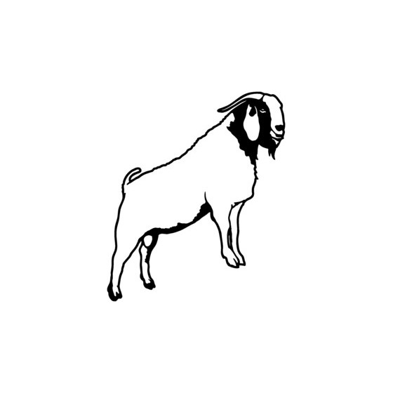 Goat Vinyl Decal Sticker V17