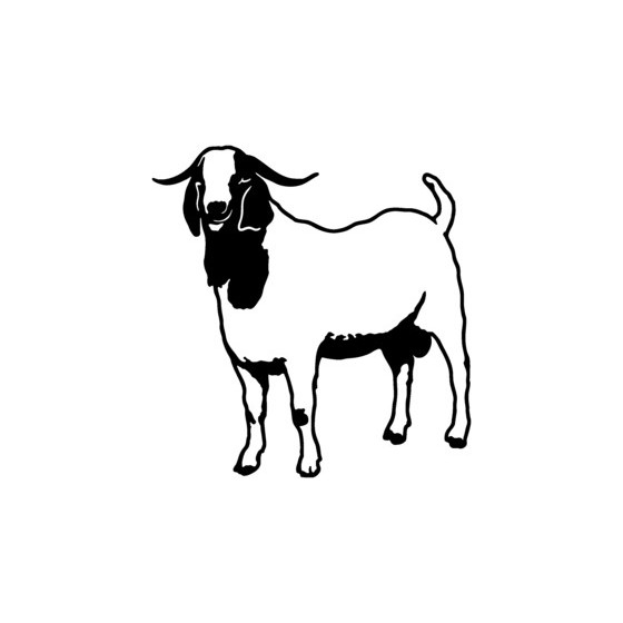 Goat Vinyl Decal Sticker V2