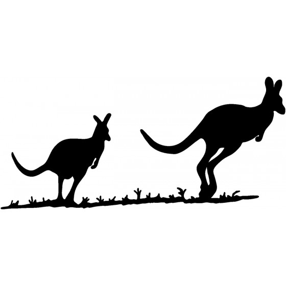 Kangaroo Vinyl Decal Sticker