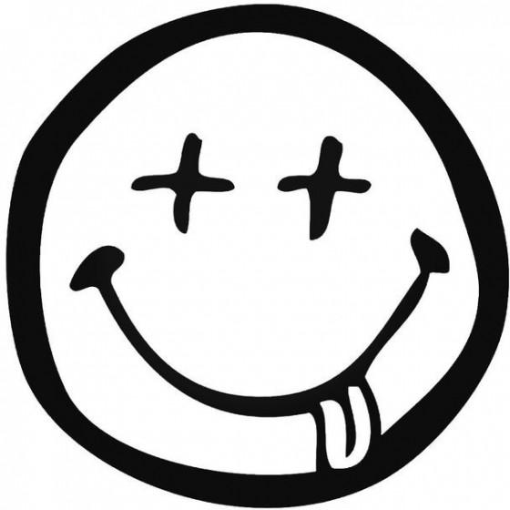 Dronken Smiley Decal Sticker