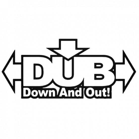 Dub 1 Decal Sticker
