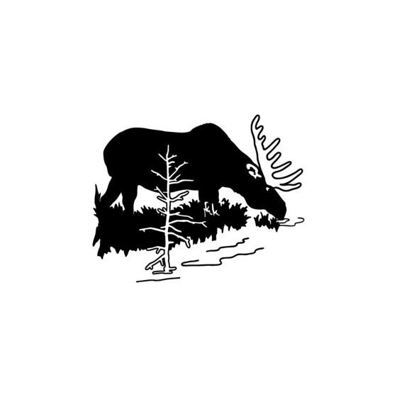 Moose Vinyl Decal Sticker V3