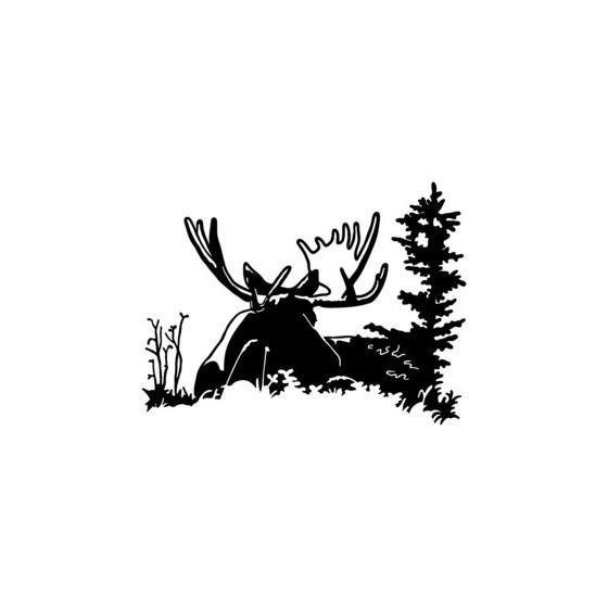 Moose Vinyl Decal Sticker V4
