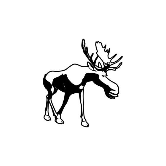 Moose Vinyl Decal Sticker V5