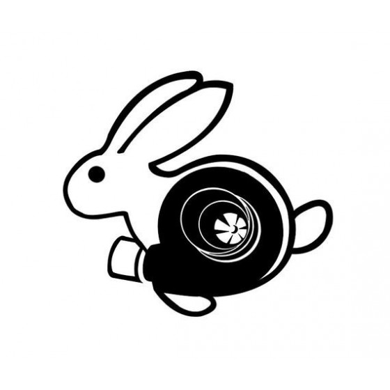 Rabbit Vinyl Decal Sticker V11