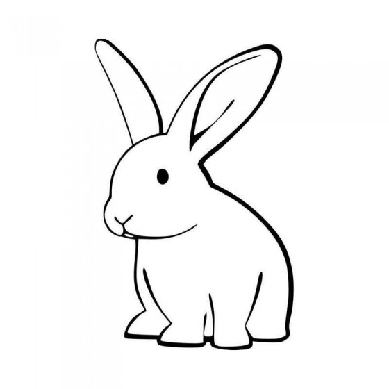 Rabbit Vinyl Decal Sticker V13