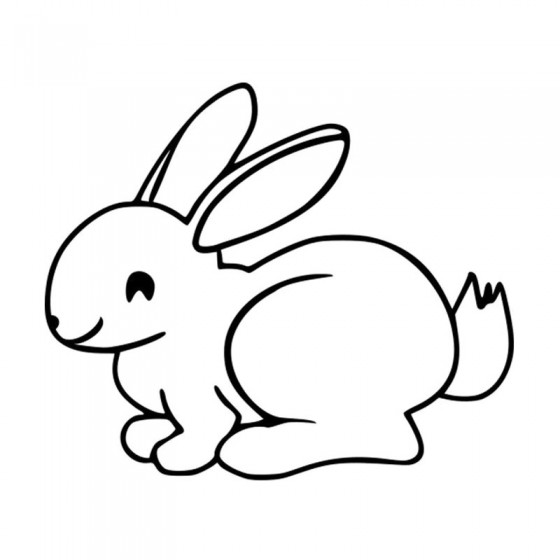 Rabbit Vinyl Decal Sticker V23