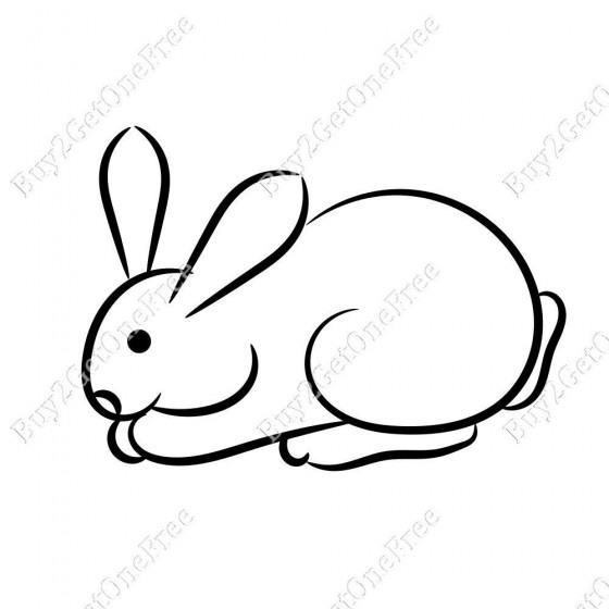 Rabbit Vinyl Decal Sticker V27