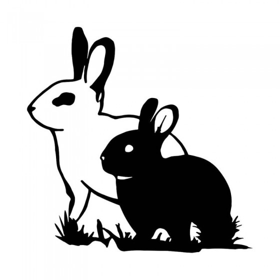 Rabbit Vinyl Decal Sticker V32