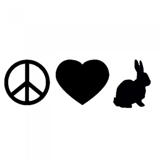 Rabbit Vinyl Decal Sticker V34