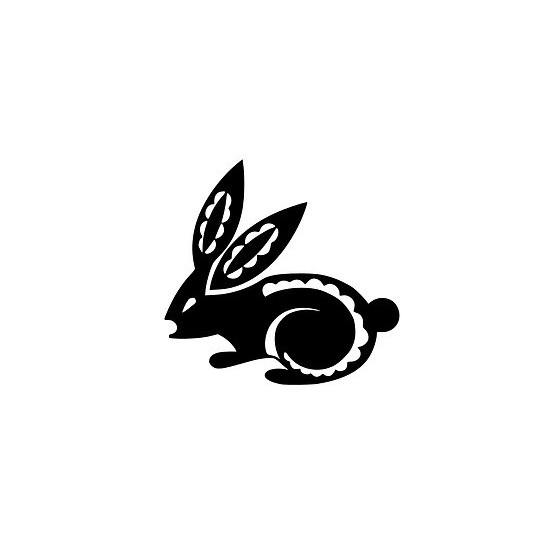 Rabbit Vinyl Decal Sticker V35