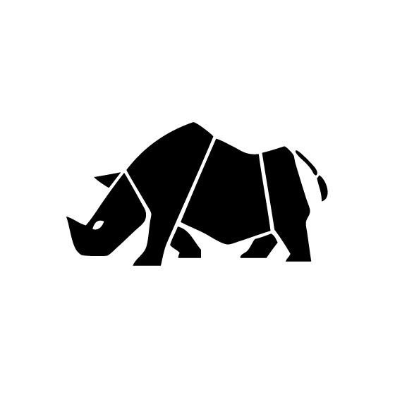Rhino Vinyl Decal Sticker V10