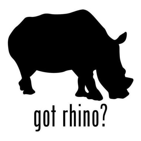 Rhino Vinyl Decal Sticker V13
