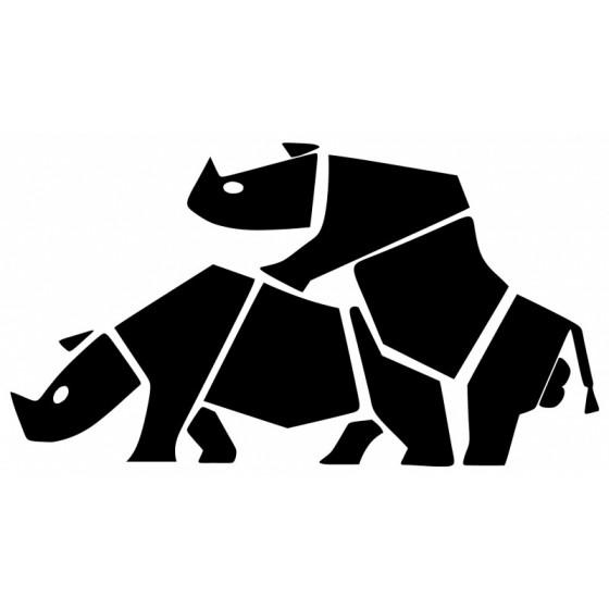 Rhino Vinyl Decal Sticker V14