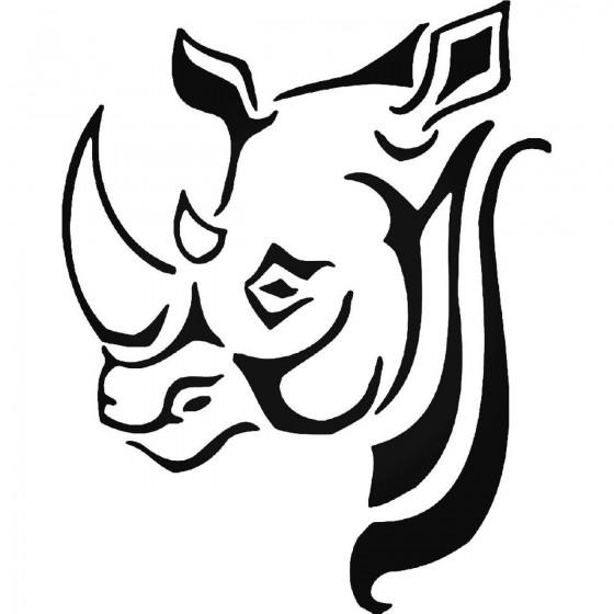 Rhino Vinyl Decal Sticker V16