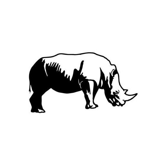 Rhino Vinyl Decal Sticker V2