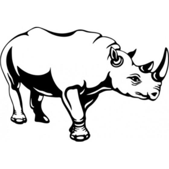 Rhino Vinyl Decal Sticker V25