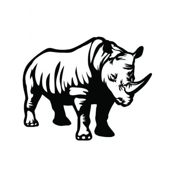 Rhino Vinyl Decal Sticker V30
