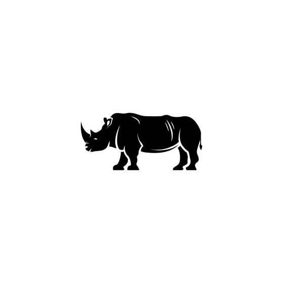 Rhino Vinyl Decal Sticker V33