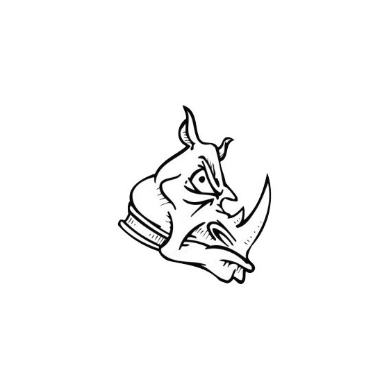 Rhino Vinyl Decal Sticker V35