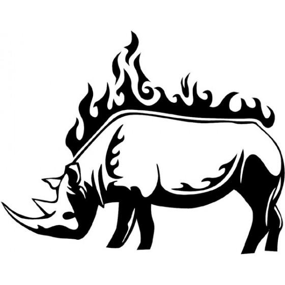 Rhino Vinyl Decal Sticker V36