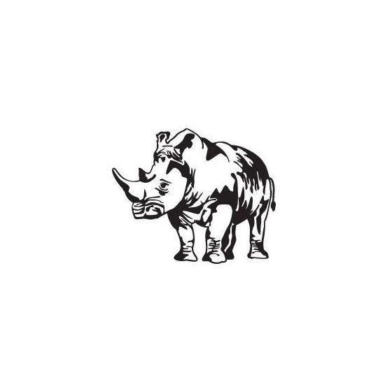 Rhino Vinyl Decal Sticker V37