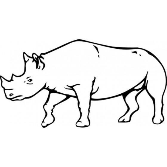 Rhino Vinyl Decal Sticker V38