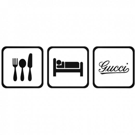 Eat Sleep Fiat 500 Gucci...