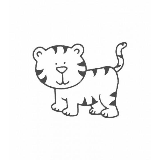 Tiger Vinyl Decal Sticker V37
