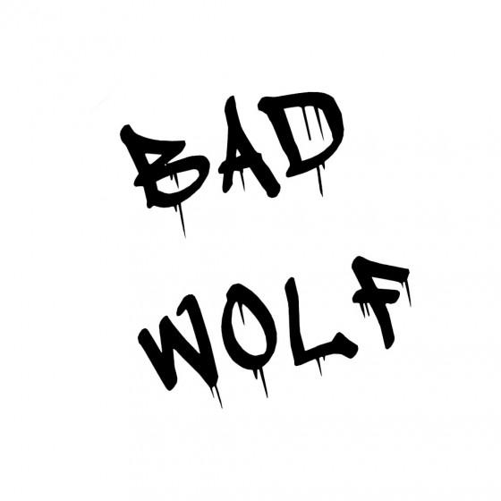 Wild Wolf Vinyl Decal...
