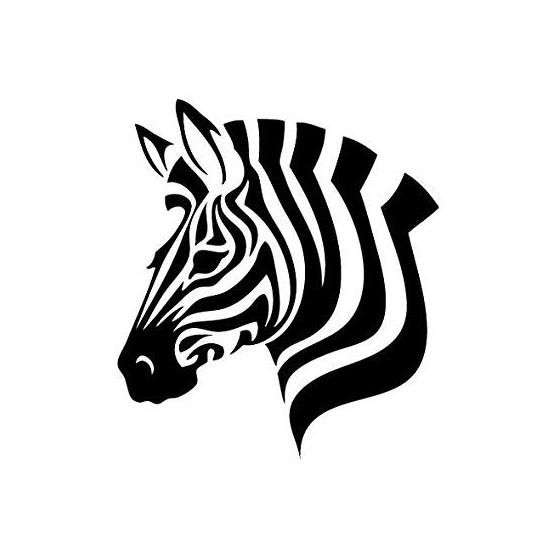 Zebra Vinyl Decal Sticker V10