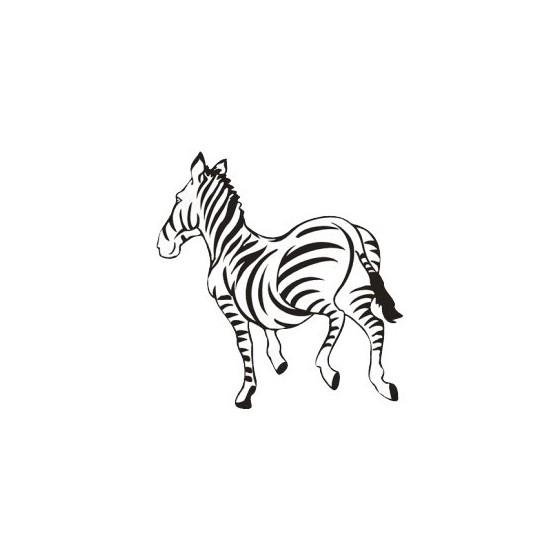 Zebra Vinyl Decal Sticker V12