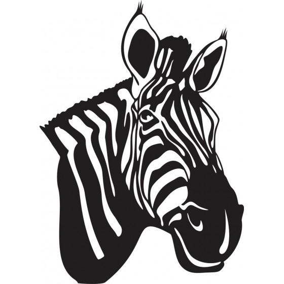 Zebra Vinyl Decal Sticker V14