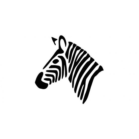Zebra Vinyl Decal Sticker V17